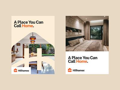 Hillhomes Poster Design! real estate branding real estate poster design brand design icon symbol brand identity graphic design logo design logo branding poster
