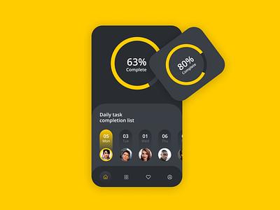 Mobile colorfull ux typography design android app development freebie black color android app branding logo ui app design
