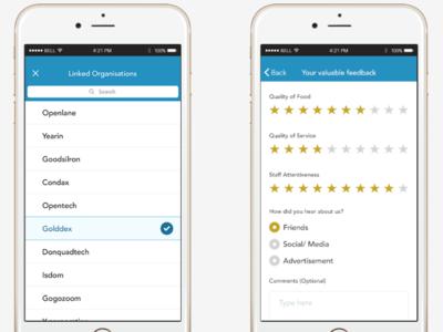 Aliment ui ux design app design