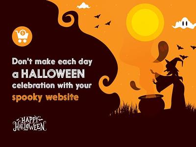 Halloween With A Flawless Website website design halloween bash halloween design halloween android app app development