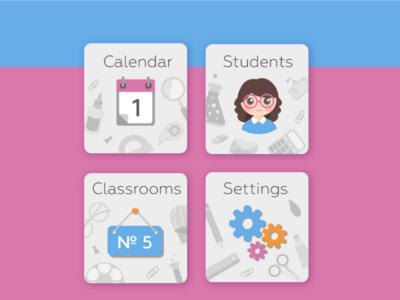 """Teacher's assistant"" app. Main menu"