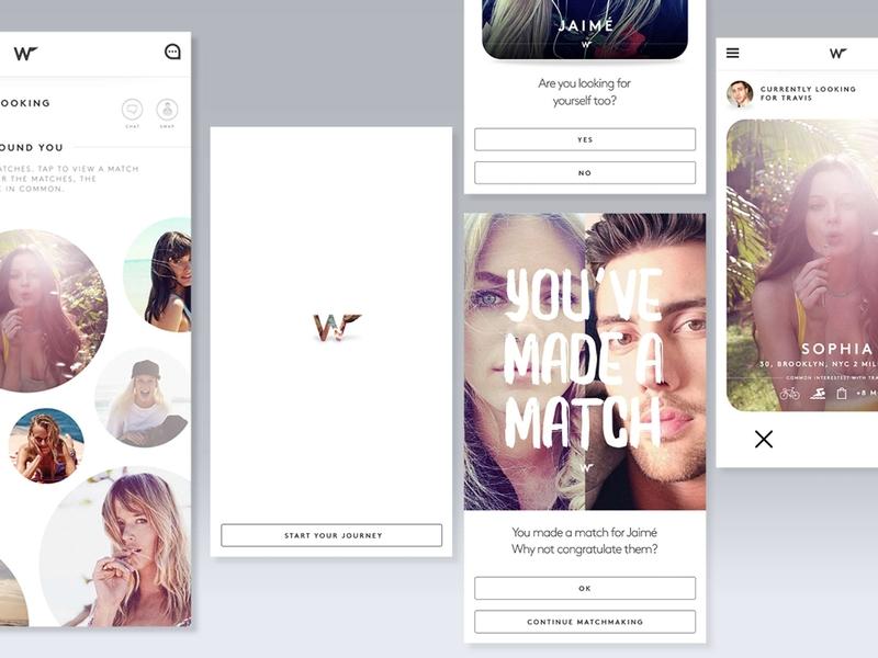 Dating App Designs ui component interface design datingapp design app dating debut app vector ui inteface design wingman