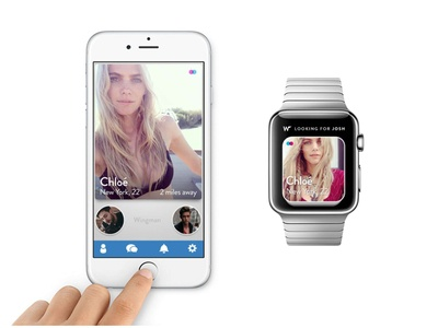 Dating App Concepts on Apple Watch and iPhone
