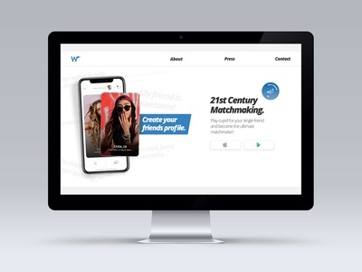 Dating App Website design
