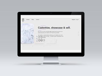 Fully Responsive Site for Art Aggregator Startup