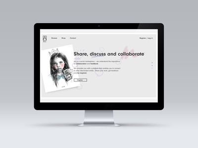 Fully Responsive Site for Art Aggregator Startup more