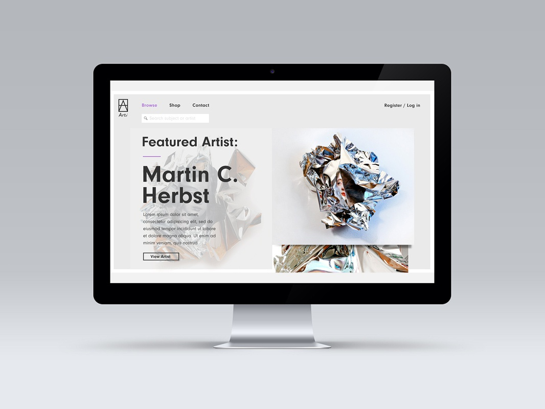 Art Aggregator Website - features page responsive website webdesigner website websitestyle typography grid responsive websites webdesign design