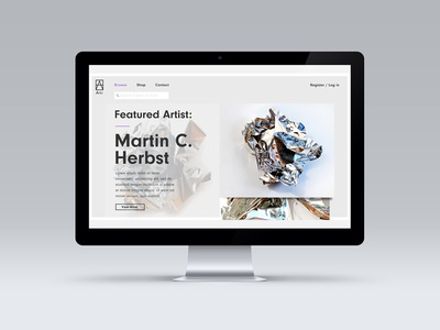 Art Aggregator Website - features page