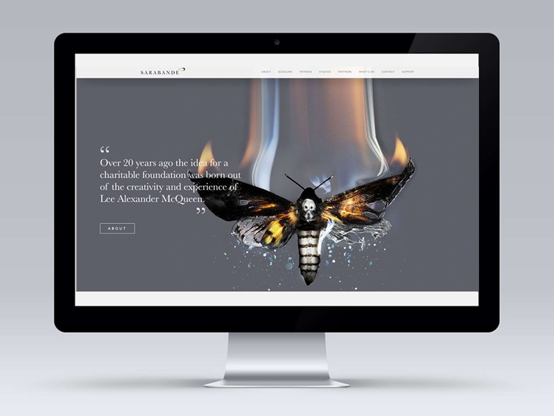 Sarabande – Lee Alexander McQueen Website mcqueen website design charity interface webdesign design ui websites fashion