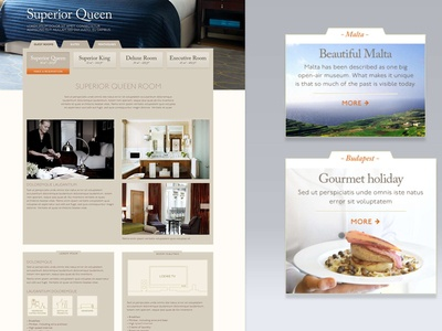 Module detail and webpage mockup for Corinthia Hotels