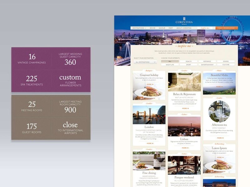 Typographic details in modules for Hotel Website website website concept website design websitestyle modules typography interface design websites