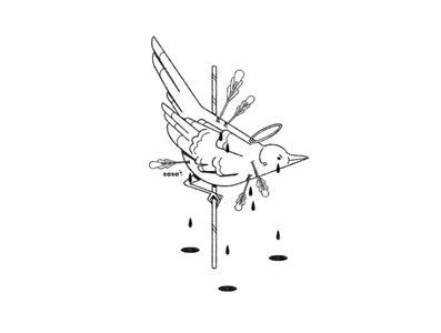 17 BIRD 🏹💧. 17/31 💛 Inktober 2019
