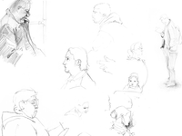 Sketches on the train