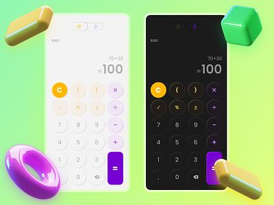 [Calculator iOS UI Kits] fluent game uiux uidesign android ios appstore ui mobile web concept app