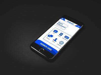 Homescreen UI Jobs search app Concept