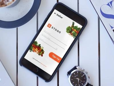 Re-design Log In & Sign Up UI Screen Mobile App STOQO