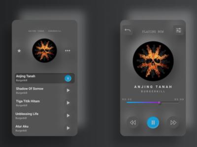 Music Application UI