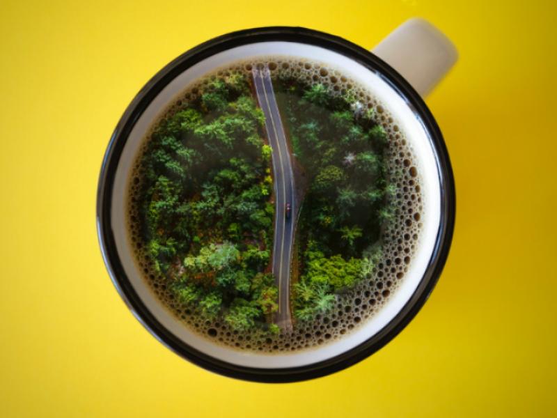 Coffee Break' indonesia jakarta bekasi manipulation yellow digitalimaging image break coffe aerial