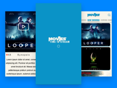 "Time To Stream - ""UI concept for MOVIES app"""