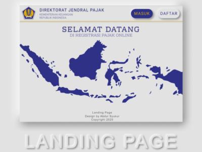 Tax Registration Landing Page