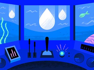 Root User water ocean geometric app tech flat texture vector icon illustration
