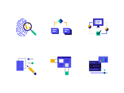 Data Icons ui geometric app tech flat texture vector icon illustration icons pack icons
