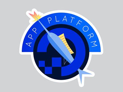 App Platform Sticker 1 animal ocean promo laptop swordfish merilin fish ui logo design app tech flat illustration icon vector sitcker