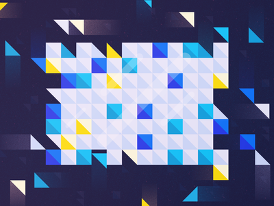 Logical Volume Management  poly shine icon flat movement glow geometric illustration triangle