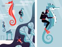 DO Mural - Seahorse