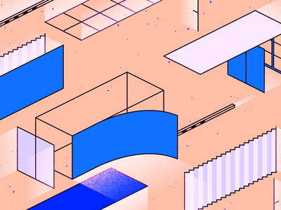 Docker design ui isometric web geometric app gradient tech flat texture vector icon illustration