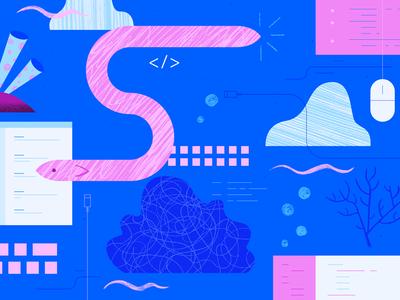 Community: Background 1 ui app flat vector web geometric ocean gradient tech handmade hand drawn scribble texture icon illustration