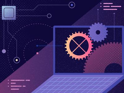 Operam Content - 2 design logo ui geometric app tech flat vector texture icon illustration