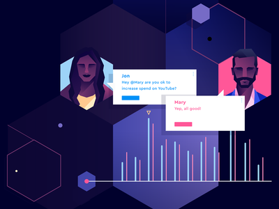 Operam Homepage branding ui web geometric app tech flat vector icon illustration