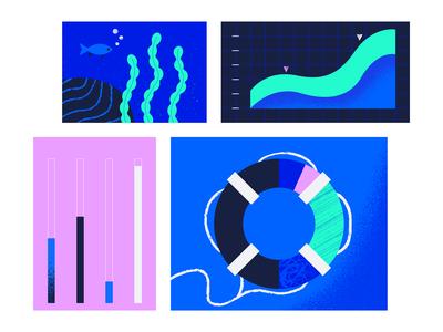 Status Page 1 gradient ocean geometric app tech flat texture vector icon illustration