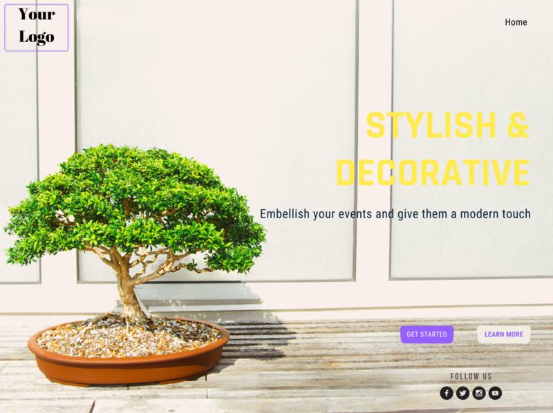 Decorative Design Webpage