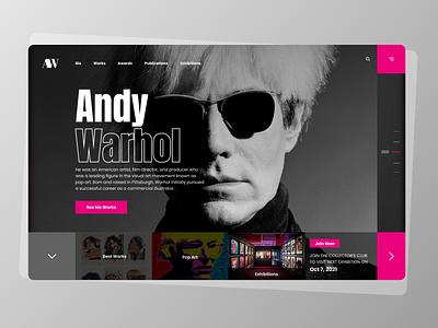 Artist Homepage : Website Design branding icon vector logo ui ux app typography illustration design
