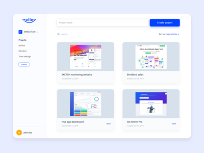 New Volley Dashboard dashboard ui user expierence product projects dashboard grid clean ui design tool loom extension prototype projects uidesign ux design web app clean ux volley dashboard