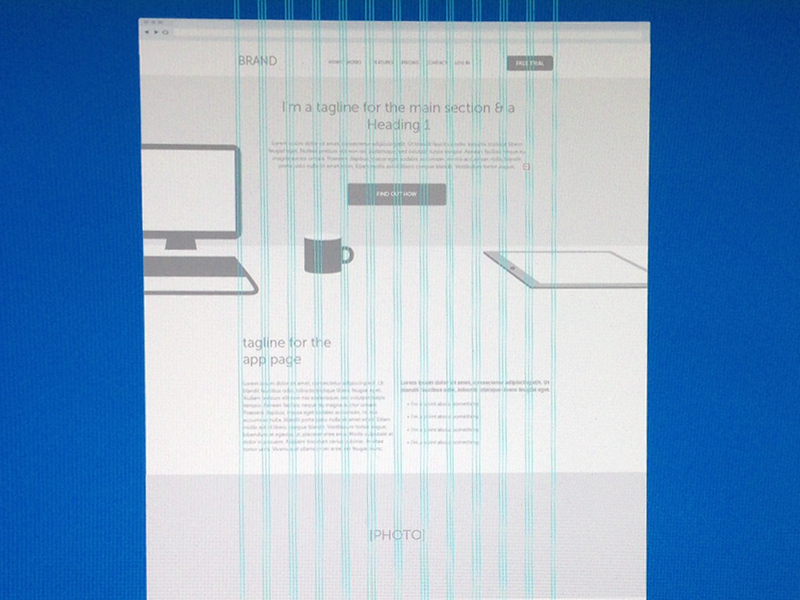 free 960 grid ai wireframe template by alex lauderdale dribbble