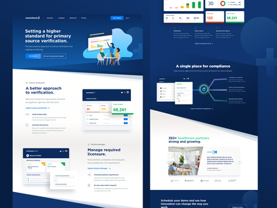 EverCheck.com visual explorations branding dashboard icons web design marketing agency colorful illustration reports stripes healthcare clean ui icon homepage webdesign data evercheck