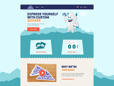 Sticker mountain website design sticker mountain sticker mule shopping cartoon web design agency website design sticker