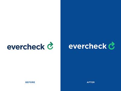 EverCheck Logo Refinements logo design logo designer branding healthcareit evercheck improvements arrow healthcare refinment brand logo