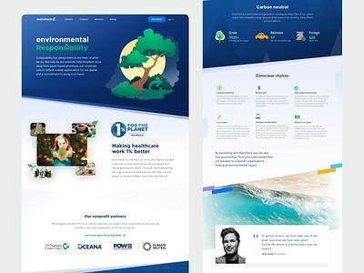 Evercheck.com - sustainability illustration app ui website colorful wave homepage website design stripes clean healthcare evercheck nature web design
