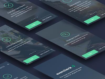 Welcome Flow app design welcome screen tutorial clean app design clean ui ios 8