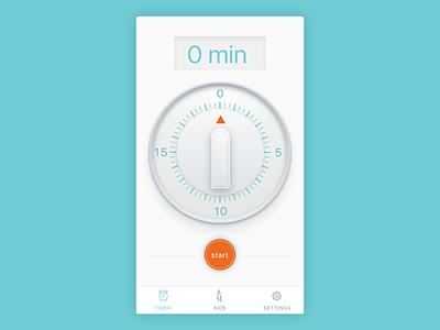 Timer App retro egg timer clean app design shirt icon clock app timer timer app