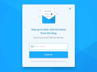 Newsletter signup button paper icon newsletter sign up pop up icon envelope mail email sign up