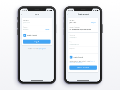 Log in / sign up iphone x sign in ui user ux mobile iphone sing up login