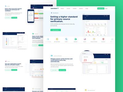 Evercheck - HR solution delight dashboard medical healthcare fun clean platform analytics hero web design evercheck