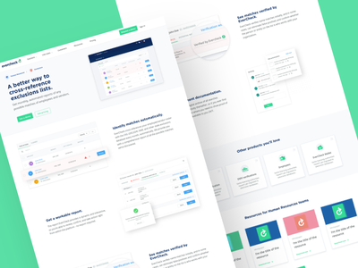 Evercheck - Exclusions illustration ux ui resources homepage web design medical identity dashboard table