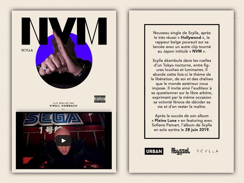 Scylla x [PIAS] ecard graphic pr abyssal urban scylla company branding belgium pias music design artist