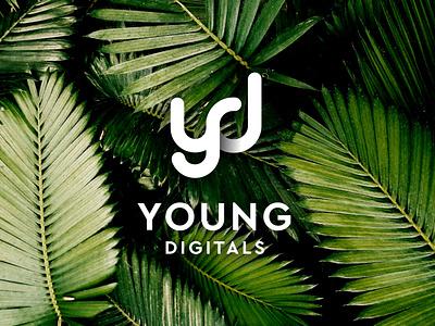 Young Digital Logo clean illustration branding minimal logo